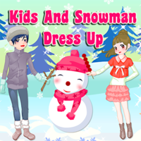 Kids And Snowman Dress Up