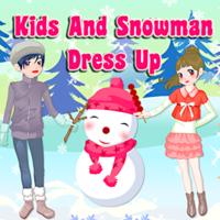 Kids And Snowman Dress Up