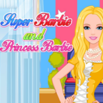 Super Barbie and Princess Barbie