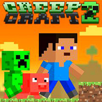 Oyun Trendleri,Creep Craft 2  is a different Minecraft-influenced platform game. You are a little green creeper once more and your mission is ... You should read the mission briefing!