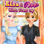 Elsa And Anna: Work Dress Up