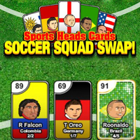 Sports Heads Cards Soccer Squad Swap