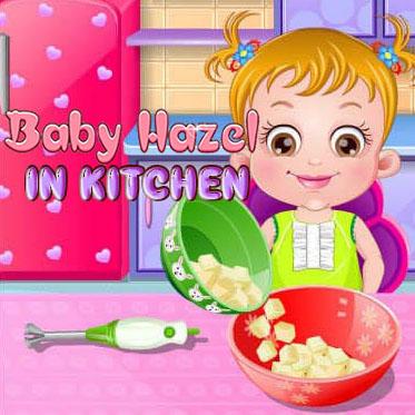 Baby Hazel: In Kitchen