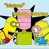 Minions Thirsty Coloring
