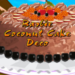 Barbie Coconut Cake Deco