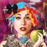 Lady Gaga: fantasy hairstyle