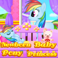 Newborn Baby Pony Princess