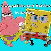 Spongebob And Patrick In Action