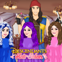 Oyun Trendleri,		 You can play Descendants Hair Salon in your browser for free. Our hair salon series continues with another super fun hairstyle session and today your clients are none other than your favorite characters from the famous Descendants du Mal series Evie, Mal and Loonie. The girls are getting ready to film some new episodes for the famous series and they need their colorful hair locks to be styled as nicely as possible. Can you help them out, ladies?