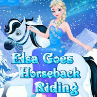 Elsa: Goes Horseback Riding