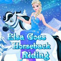 Elsa: Goes Horseback Riding