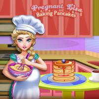 Pregnant Elsa: Baking Pancakes