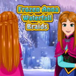 Frozen Anna: Waterfall Braids