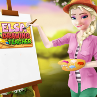 Elsa Drawing Teacher