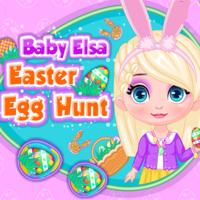 Baby Elsa Easter Egg Hunt