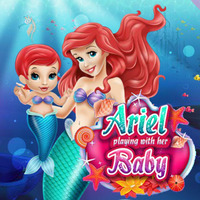 Ariel Playing With Her Baby