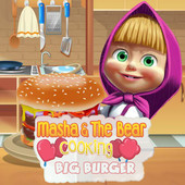 Masha & The Bear Cooking Big Burger