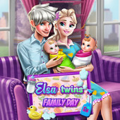 Elsa Twins Family Day