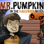 Mr. Pumpkin In The Halloween Night