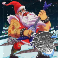 Santa Rockstar Metal Xmas 2