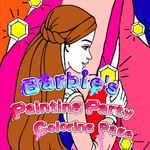 Barbie's Painting Party Coloring Page