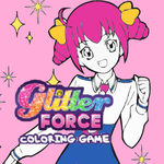 Glitter Force Coloring Game