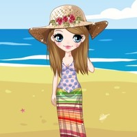 Beach Look Dress Up Game