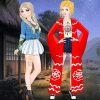 Permainan Trend,Princess Coachella Style Dress 2 is one of the Dress Up Games that you can play on UGameZone.com for free. Frozen Elsa and Cinderella have come to the modern city, they very like modern fashion and dress themselves up in different fashion dressing style. Today is the coachella style. They are so beautiful!