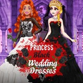 Princess Black Wedding Dresses