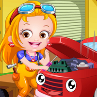 Game Gratis Populer,You can play Baby Hazel Mechanic Dress Up on UGameZone.com for free.  Gosh! Baby Hazel's car has broken down. And our little princess has to visit her friend's home for the party. She plans to fix the issue on her own so that she can reach on time. Hazel needs your help to dress up in a mechanic outfit and accessories. Can you help her? Pick the comfiest and stylish mechanic-style costume and accessories for Hazel. Give her the tools required for repairing the car. Enjoy and have fun!
