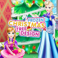 Frozen Christmas Tree Design