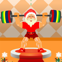 Santa Claus Weightlifter