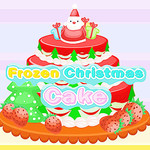 Frozen Christmas Cake